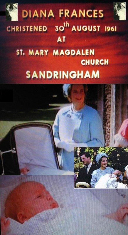 30 Aout 1961 - Baptême de Diana à St Mary Magdalen, Sandringham