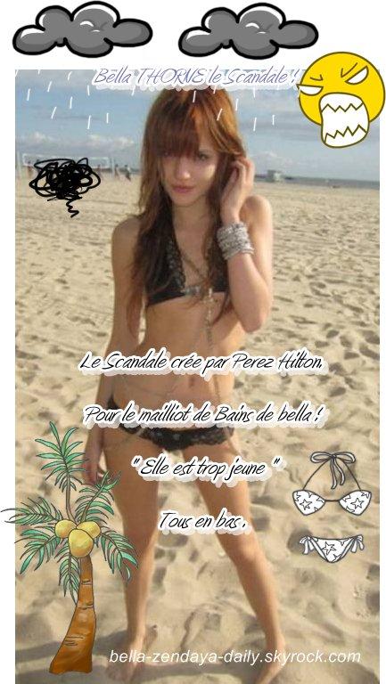 Bella Thorne le SCANDALE Cree par Perez Hilton