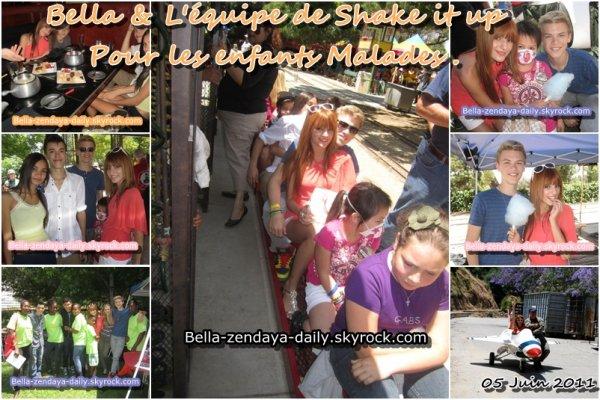 Article ; @Zendaya96 & Swagitout & @Bellathorne143 pour les enfants malade