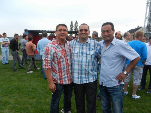 Moi,Gaétan président et Sylvain vice président
