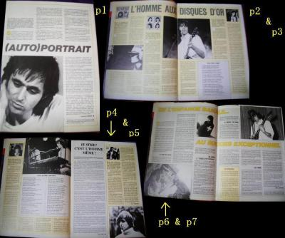 "Pages 1 à 7 du Magazine "" Paroles et Musique """