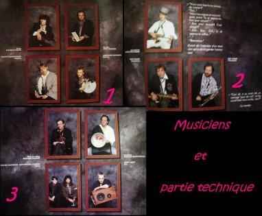 Musiciens et Partie Technique