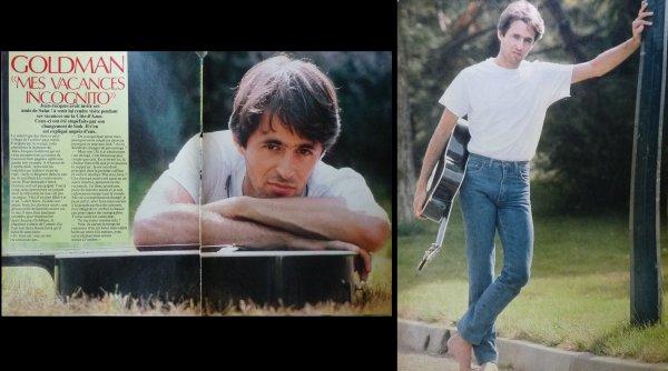 """Page d'un Salut! 1984-85 - Goldman """"Mes vacances incognito"""""""