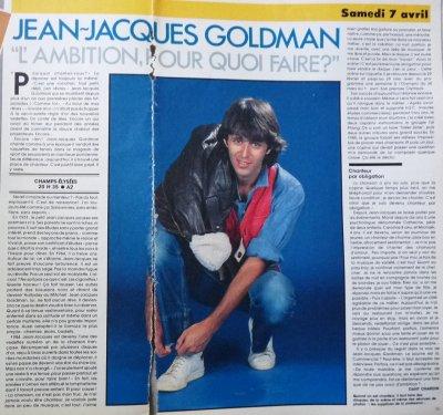 """Pages extraites du Télé star du samedi 7 avril 1985 - """"L'ambition, pourquoi faire?"""""""