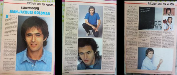 3 pages d'un magazine Graffiti de 1987 - Albumscopie Jean-Jacques Goldman