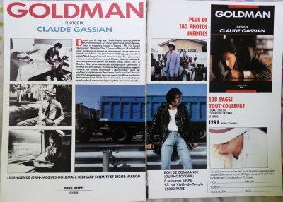 Article sur la sortie du livre de Claude Gassian sur JJ Goldman 1989