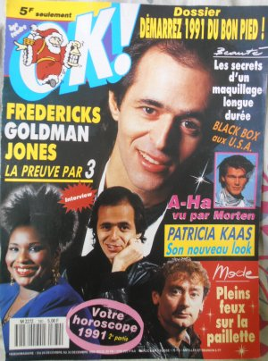 Article: Couverture OK!  1990:  Fredericks Goldman Jones, la preuve par 3