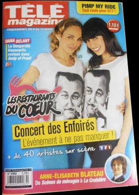Les Enfoirés font la UNE du Télé Magazine du 9 au 15 Mars 2013