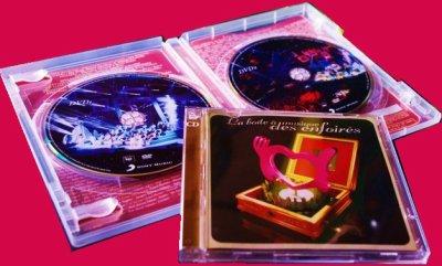Pour mon anniv (3 avril), j'ai étè gâté en cadeaux....DVD, CD des Enfoirés; Posters; T-shirt...etc...