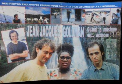 """Article d'un magazine Salut! """" Jean-Jacques Goldman Quand la musique est...vacances !!! """""""