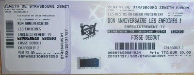 BON ANNIVERSAIRE les ENFOIRES - 2014 - Zénith de Strasbourg