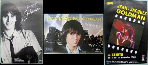 """3 Affiche annonce de """"JJG en Concert"""" - 1982 / 1984 / 1985 (trouvées sur Ebay)"""