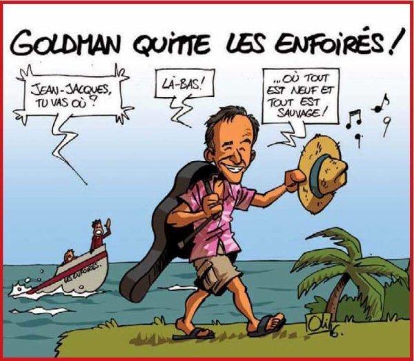 Jean-Jacques Goldman quitte les Enfoirés.....:( C'est une page qui se tourne pour la troupe des Restos du coeur