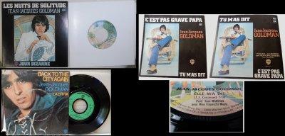 Les trois premiers 45T solo de Jean-Jacques Goldman de 1976 à 1978
