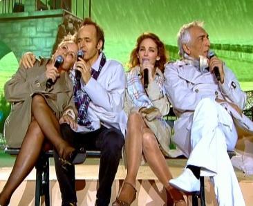 """Muriel.R, Jean-Jacques.G, Claire.K et Gérard.D chantant """" Le baiser """" d'Alain Souchon"""