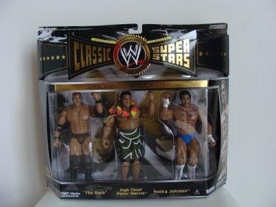 Figurines les Classic du WWE.