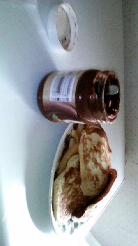 Jai fais des pancakes pour le goûter. Trop boon !!