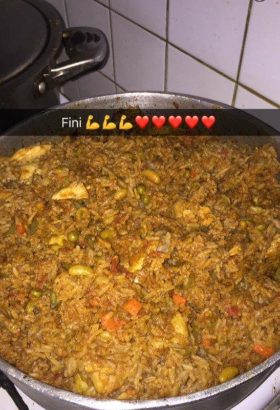 Poulet biryani avec quelques légumes hummm trooop bon !