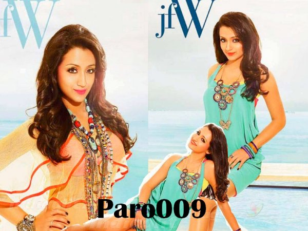 Sensuous Trisha On JFW's 50th Issue