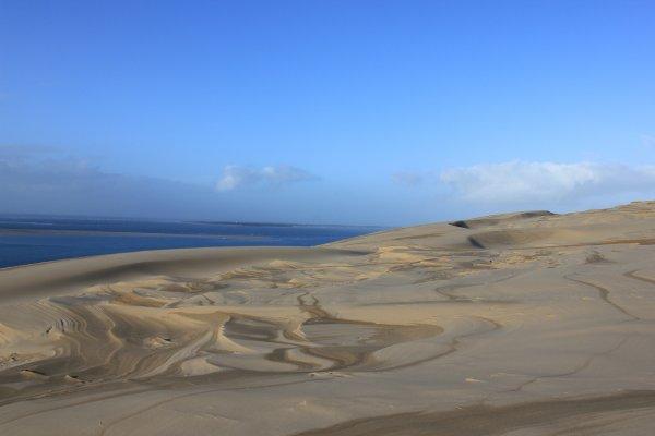 Contraste : sable humide/sec