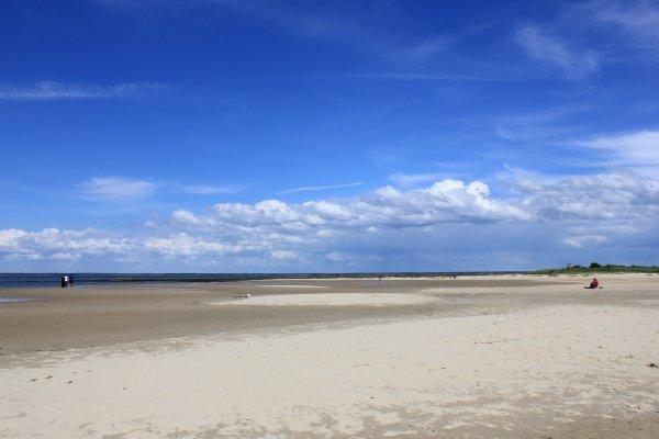 La plage de La Hume cet aprés-midi
