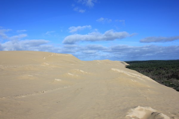 Après une matinée de pluie, la Dune sèche.