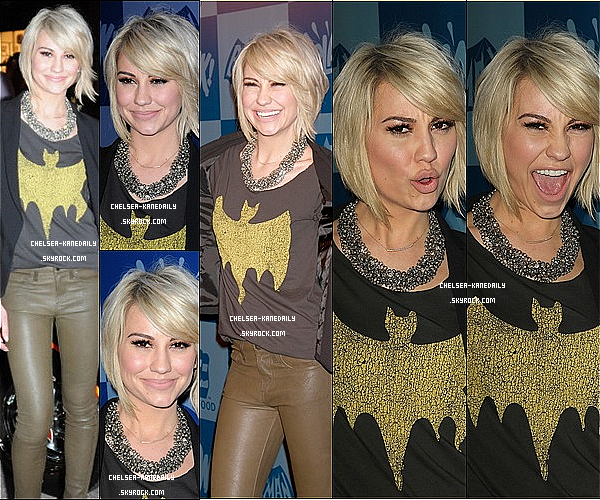 23/03/13 Notre Jolie Chelsea était au lancement de la ligne de Produits Batman