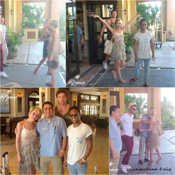 16/04/2013 Chelsea ainsi que Derek et Tahj ont était vu quittant leur Hotel au Mexique