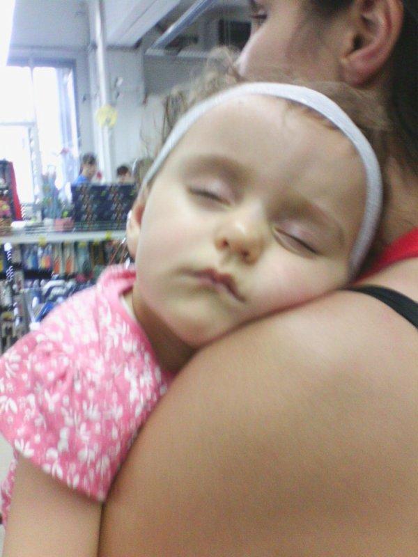 ma pepete qui dormer dans mes bras
