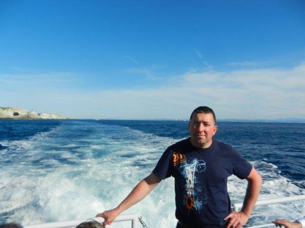 Petit tour en bateau à Bonifacio