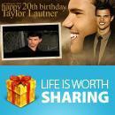 """Incroyable j'ai """"pas"""" oublié l'anniversaire de.... Taylor Lautner !!"""