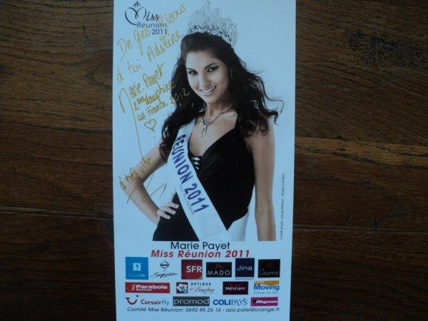 Marie Payet - Miss Réunion 2011 et 2ème Dauphine à l'élection de Miss France 2012