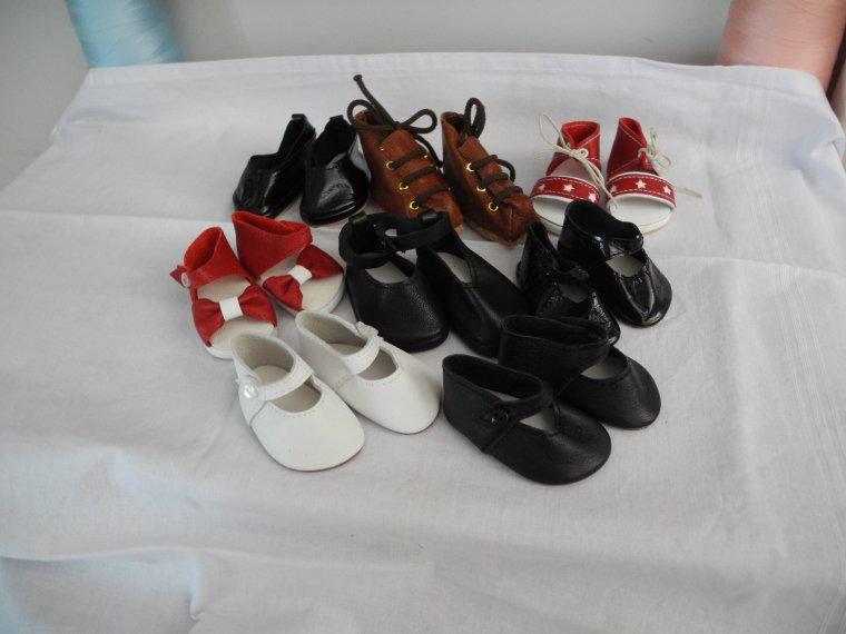 la broderie et les chaussures de Françoise