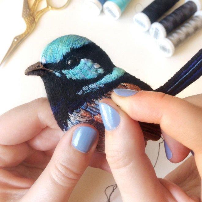 Les oiseaux brodés de Paulina Bartnik