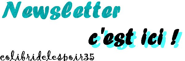 Newsletter~♥