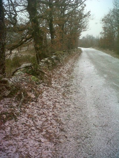 Cette fois, le Quercy blanc est vraiment blanc! Et dire qu'au printemps, on y entend les cigalles!!!