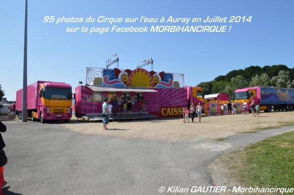CIRQUE SUR L'EAU Auray 2014