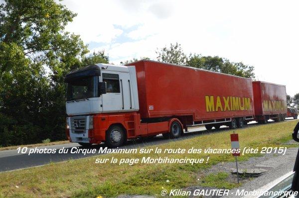 CIRQUE MAXIMUM sur la route de Saint Trojan Les Bains 2015