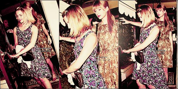 - 16/05/12: La belle Dia' à été repérée sortant d'un restaurant accompagnée de son amie Taylor Swift. -
