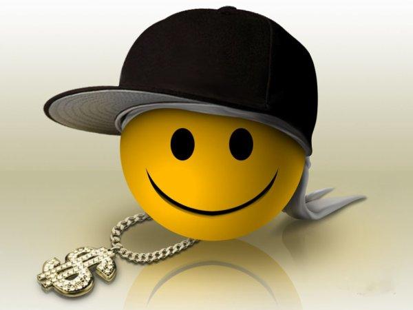 Hd Smiley Face Wallpaper: Smiley Rappeur