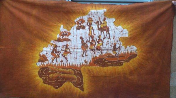 la carte du Burkina faso