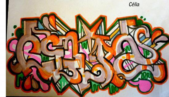 le prenom de ma rouge en graffiti