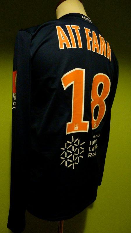 maillot Montpellier porté Ait Fana saison 2011 2012