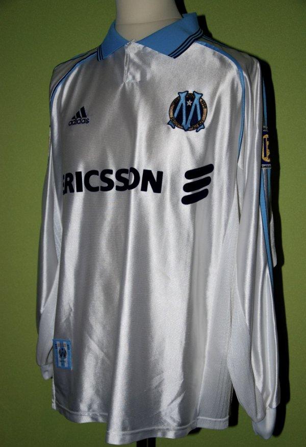 Maillot OM porté championnat 1998-1999