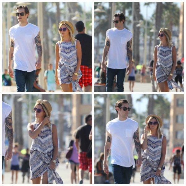 3/07/2014  Marcher avec Chris et Maui sur plage de Santa Monica