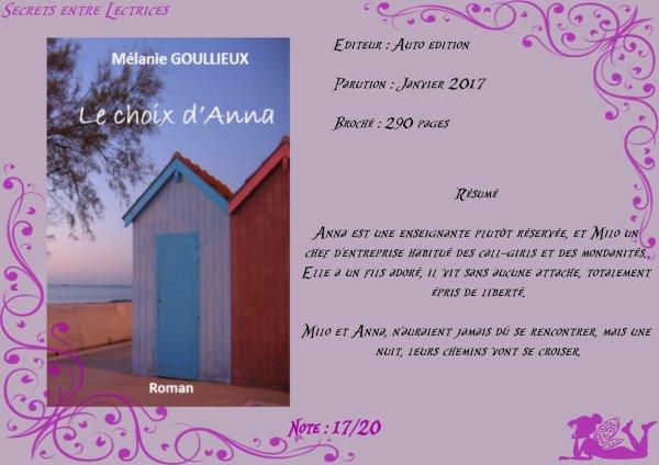 Le choix d'Anna de Mélanie Goullieux