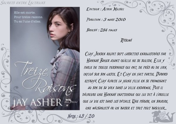 Treize raisons de Jay Asher
