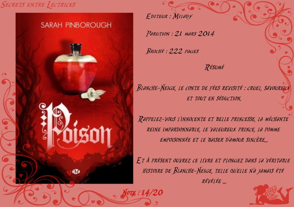 Contes des Royaumes Tome 1 : Poison de Sarah Pinborough