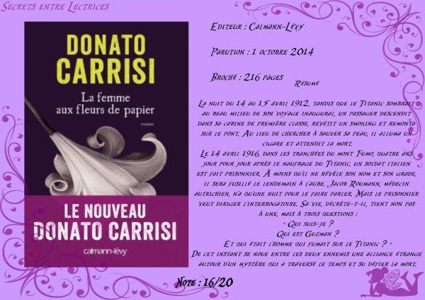La femme aux fleurs de papier de Donato Carrisi