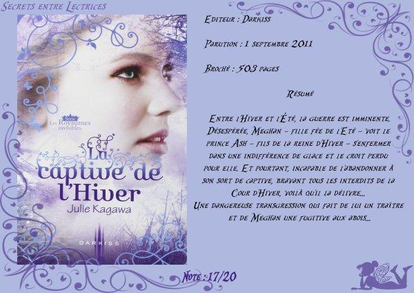 Les Royaumes invisibles Tome 2 : La captive de l'Hiver de Julie Kagawa